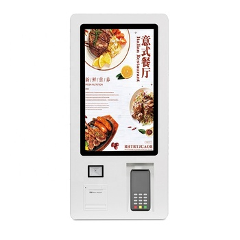Touch cash check out outdoor food kiosk self payment terminal for sale restaurant