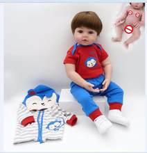 Игрушка для всего тела, силиконовая водостойкая игрушка для ванны, Популярная игрушка для новорожденных, куклы для малышей, кукла bebe, Реалис...(Китай)