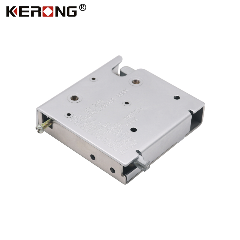 KERONG Mini Stainless Steel 24V Waterproof Motor Latch Locks For Electronic Parcel Locker or Cabinets