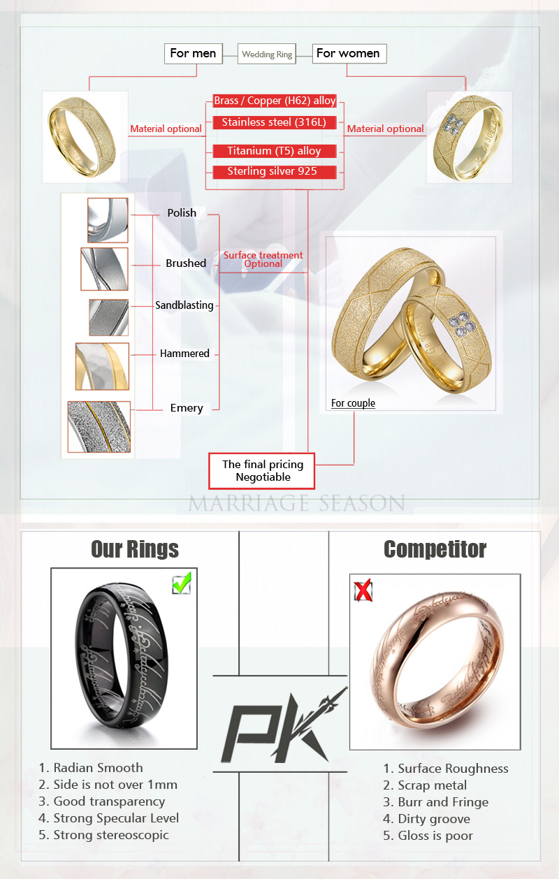 Vintage Anniversary Diamond Rings Wedding Ring Voor Paar