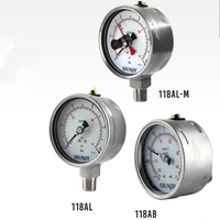 Heavy Duty Pressure Gauge,All Stainless Steel Pressure Gauge,Laser Welding(Liquid Filled Gauge)
