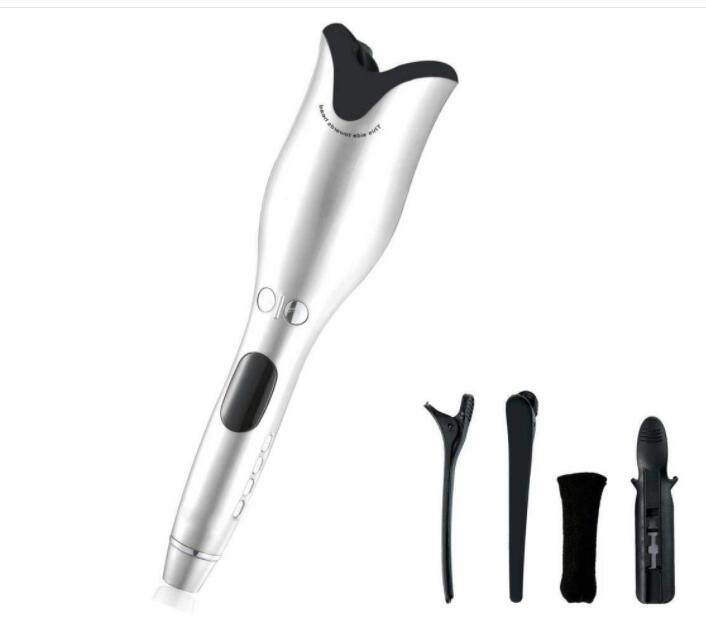 Automatic Curling Iron Professional Hair Curler for All Hair Types with Hair Clips and Cleaning Tool