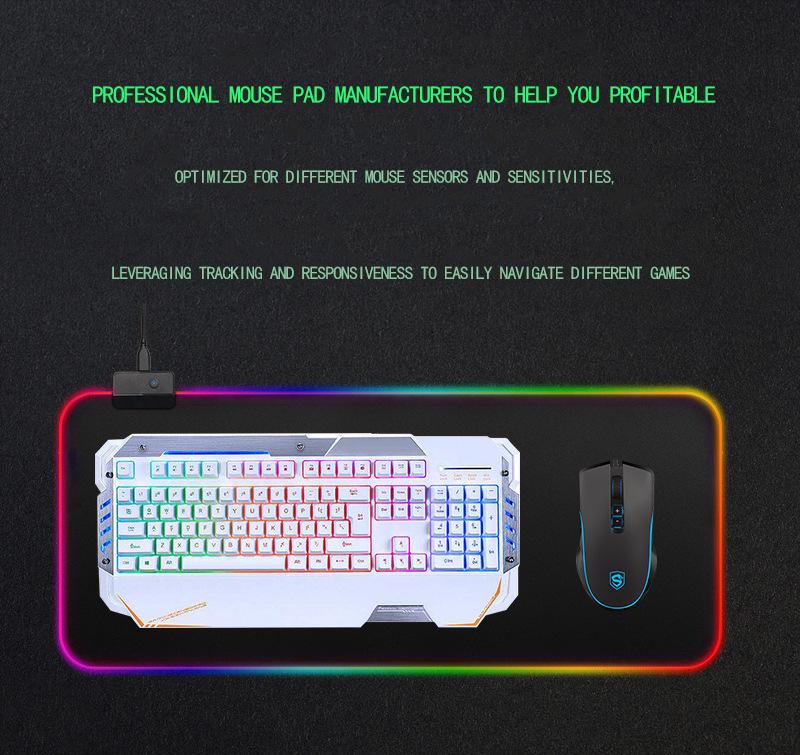 BUBM 2020 カスタム印刷大 RGB Led ゲーミングマウスパッド