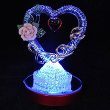 Glass heart LED light up Valentine gift wedding gift ornament