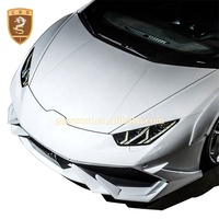 Pro Composite Style Carbon Fiber Front/Rear Fenders Flares Wide Body Kit For Lambo Huracan Lp610/Lp580