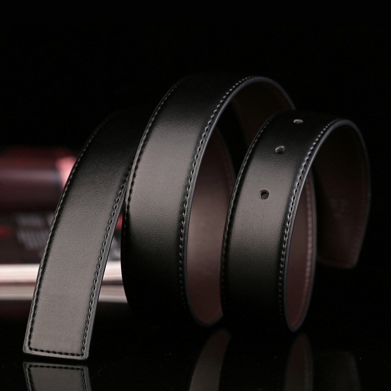 Men's Belt Double-sided Two-layer Leather Belt Strap Without Buckle Pin Buckle No Buckle 3.3cm
