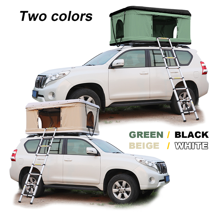 2020 HOMFUL Hard Shell Car Roof Top Tent Folding Camping Truck Rooftop Tent for SUV