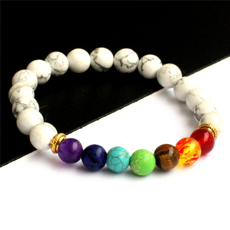 KD003 European and American fashion stone color elastic beaded bracelet retro simple elastic adjustable bracelet couple bracelet