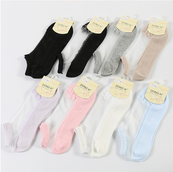 Summer thin section invisible cool transparent short tube stockings ladies