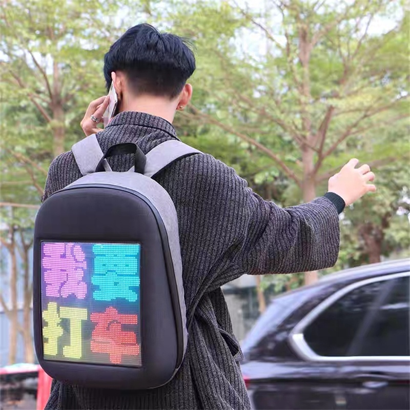 Dynamic backpack led display <strong>screen</strong> for advertising use