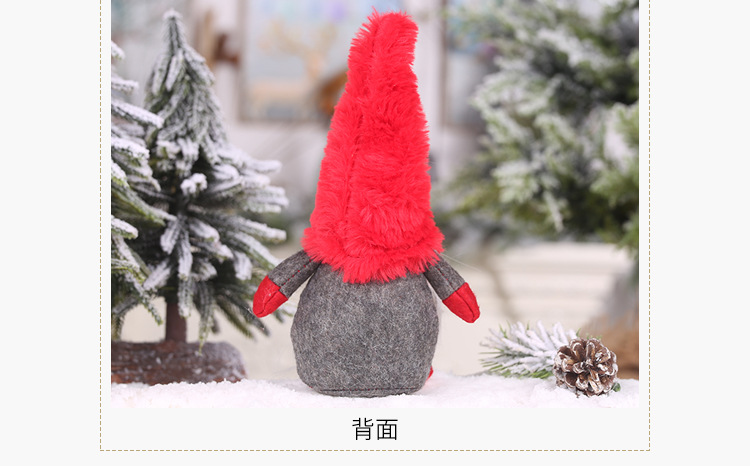 2019 Christmas Plush Forest Man Foot Tied Beard Faceless Doll Creative Forest Old Man Decoration