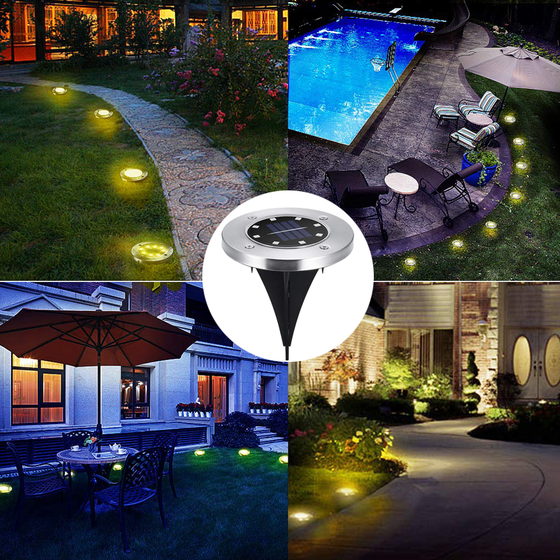 Solar underground Lamps Buried Light IP65 Waterproof Led Garden Floor Deck Lights for Yard Driveway Terrace Stairs Lawn Lighting