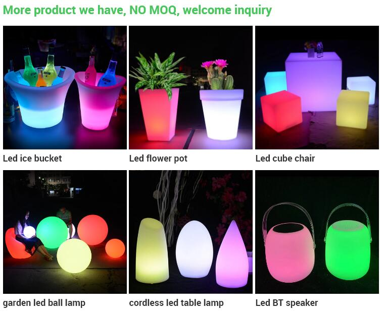 illuminated glowing large size plastic led light flower pots planters molds large garden led planters pot
