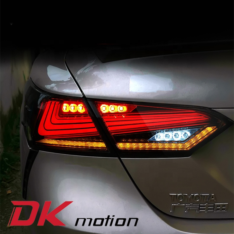 car accessories For Toyota Camry Tail Lights LED Rear Light Tail Lamp DRL+Brake+Signal Stop car accessories orginal adapter