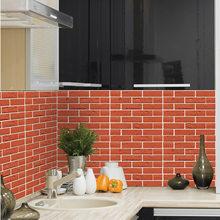30*30 см 3D каменная кирпичная настенная бумага съемная ПВХ Настенная Наклейка домашний декор художественная настенная бумага для спальни гос...(Китай)