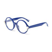 SO & EI модные жемчужные круглые оптические очки оправа женские роскошные Прозрачные Линзы для очков винтажные мужские очки для близорукости ...(Китай)