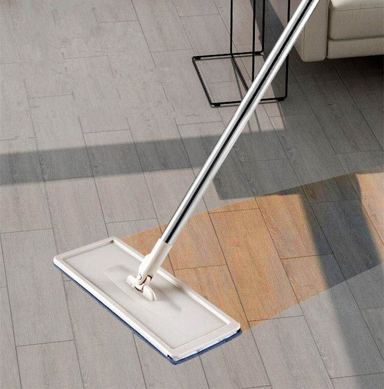 Flat Mop with Self-Washing and Squeeze Drying Bucket Magic Wash and Dry Mob for Cleaning Flat Mop