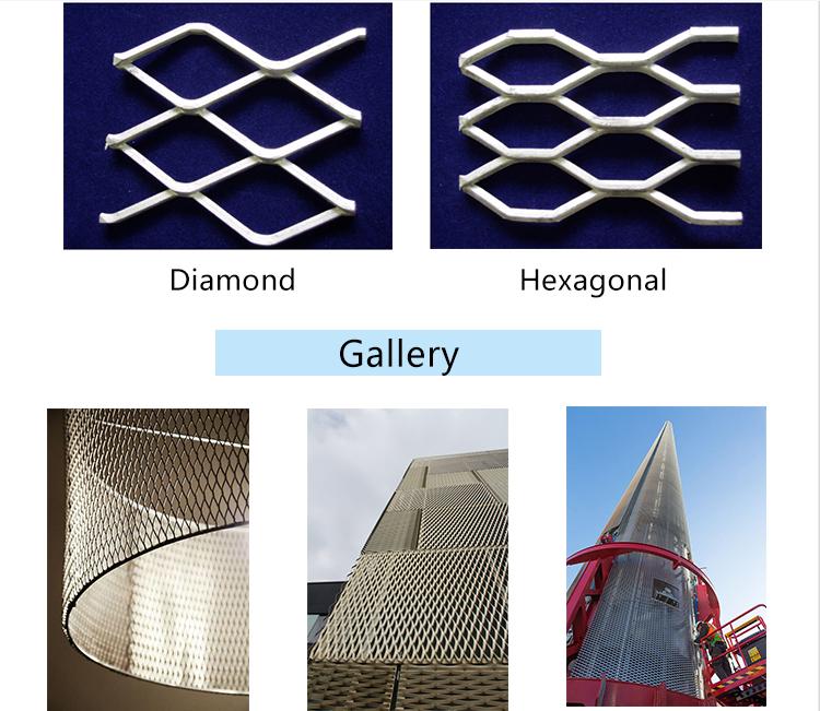 In Acciaio Inox/Acciaio Inox/Alluminio Piccolo Foro Expanded Metal Mesh con il prezzo competitivo decorativo in lamiera stirata