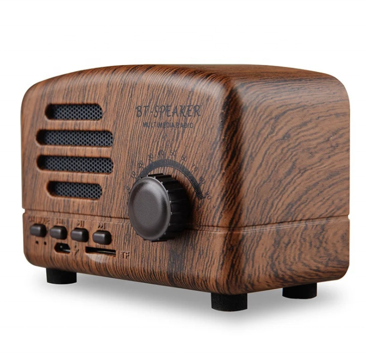 Mini Bluetooths Retro 휴대용 스피커 야외 Small Retro 무선 Wood Grain Bluetooths 스피커