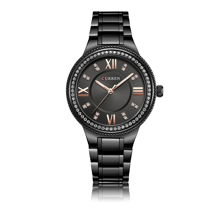CURREN 9004 Luxury <strong>Wrist</strong> <strong>Watch</strong> <strong>Women</strong> Stone Case New Design Fashion Girls Diamond <strong>Watch</strong> <strong>For</strong> <strong>Women</strong> Luxury <strong>Watch</strong>