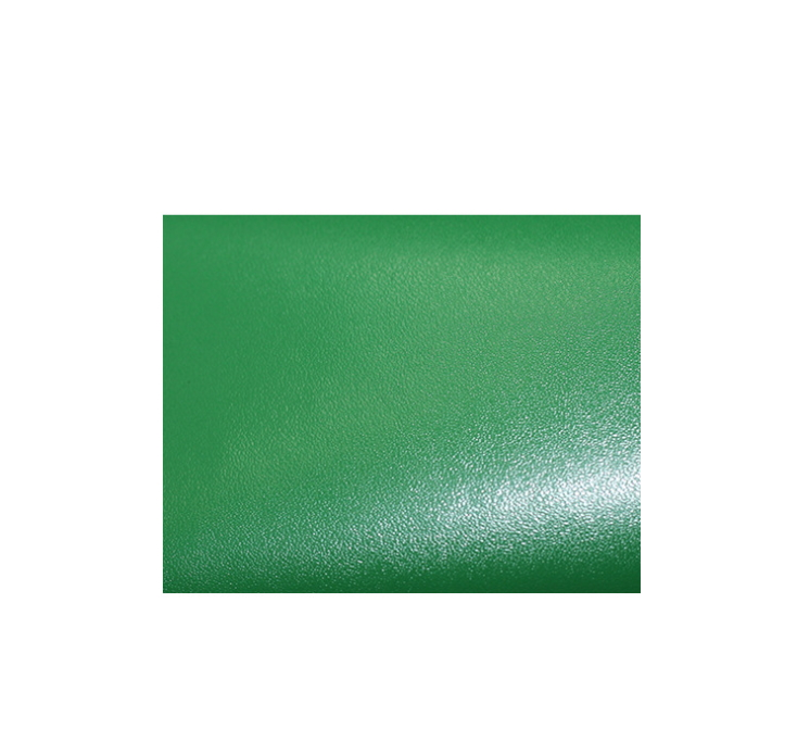 Sheepskin case and bag leather 1.1mm thick green PVC leather with spiny bottom