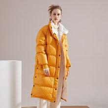 Женский пуховик большого размера на осень и зиму 2020, Модная хлопковая куртка, Длинные парки, толстые теплые куртки, Женское пальто, одежда(Китай)