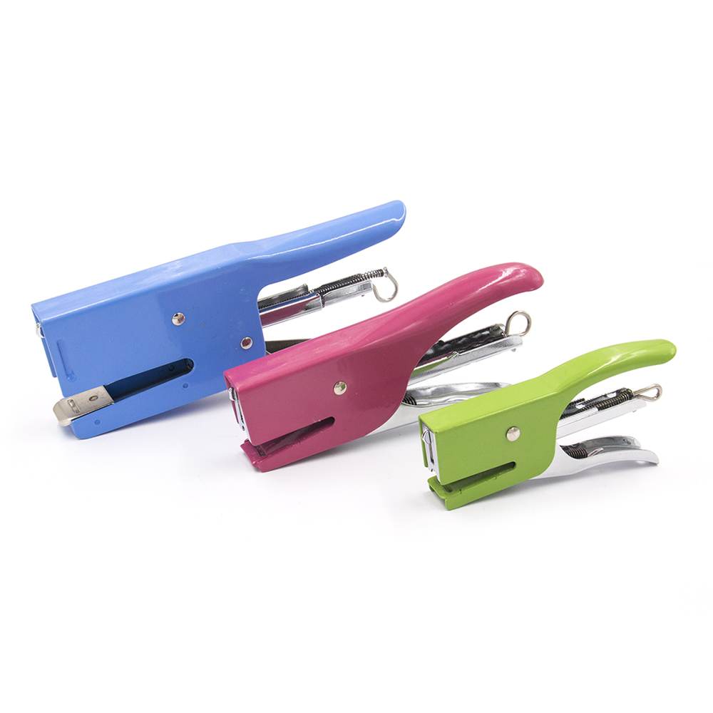 medium needle:  24/6 26/6  hand-held all-steel construction sheet metal stapler for office and school supplies