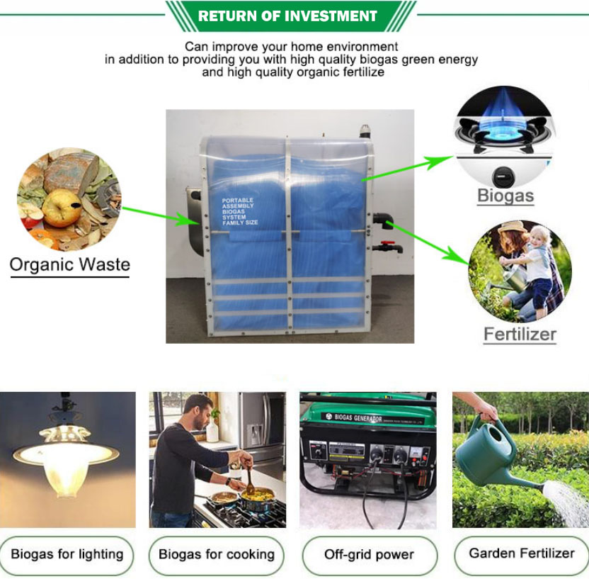 China Puxin Domestic Anaerobic Digester Home Small Biogas System with Food Waste Grinder