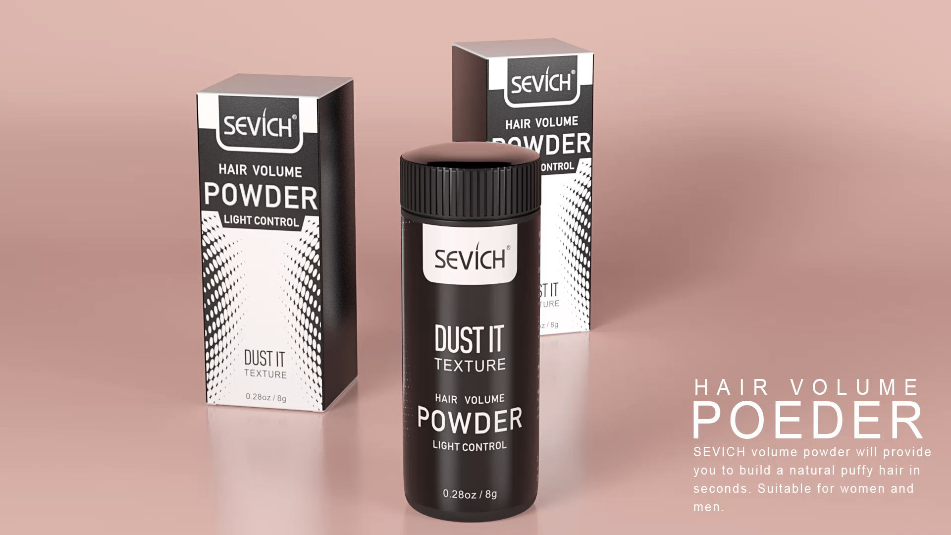Polvo de volumen de pelo de raíz mágica mate, productos para cabello graso y textura