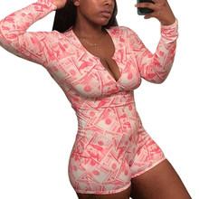 Сексуальная пижама, женская пижама с длинным рукавом, шорты, комбинезон, одежда для сна, спортивный костюм, летняя Пижама для взрослых женщи...(Китай)