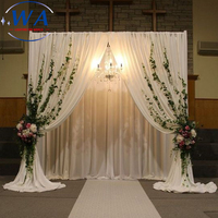Different Color available Portable Pipe and Drape Wedding Backdrop with Velvet Fabric