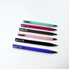 Hot selling rubber finish plastic triangle ball hotel pen with cap