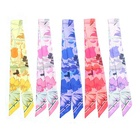 Latest Design 2020 Spring Skinny Scarf for Bags Womens Flowers Ribbon Hair Band
