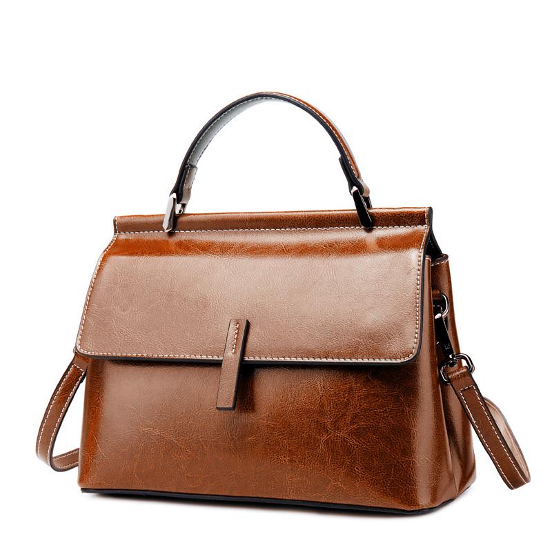 REALER сумка через плечо для женщин винтажные сумки-мессенджеры Дамская кожаная сумка с верхней ручкой Женская Ретро сумка через плечо для отд...(Китай)