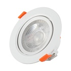 12v 3w cutout 52mm chrome brushed high power indoor fixtures warm 3w firerated led downlight