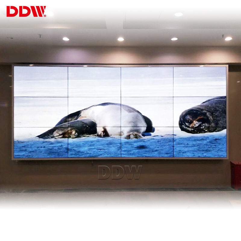 Factory hot koop 55 inch 1.7mm bezel 1920x1080 resolutie landschap breedbeeld lcd video muur multi- screen tv