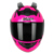 Motorcycle Helmet with Personality Horn/tail Motorbike Motocross MATT BLACK Moto Helmet Full Face Helmets Casco
