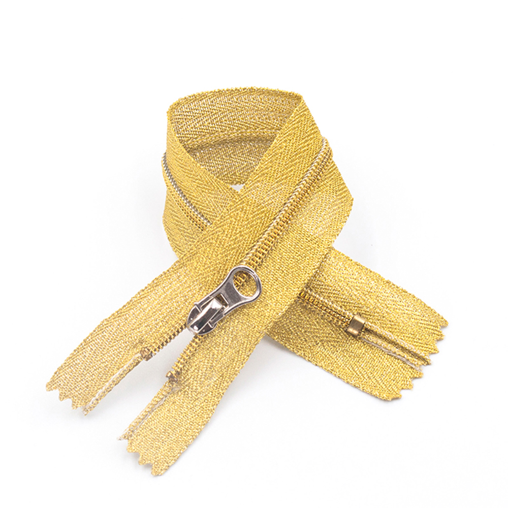 Best price manufacturer home textiles 3# 4# 5# waterproof closed end nylon gold tooth zipper