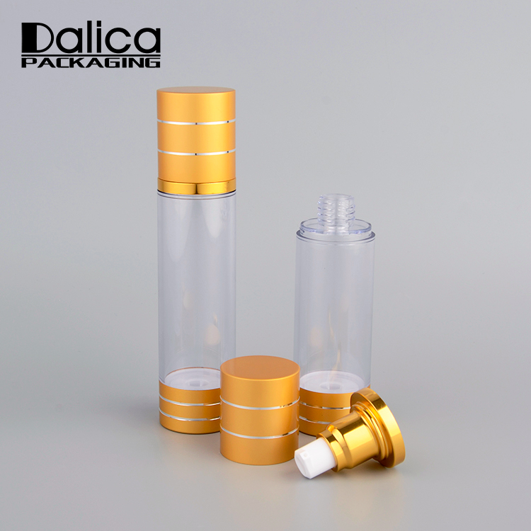 10 ml 15 ml 30 ml 50 ml 80 ml 100 ml 120 ml innovatieve cosmetische gold plastic airless custom pomp spray fles