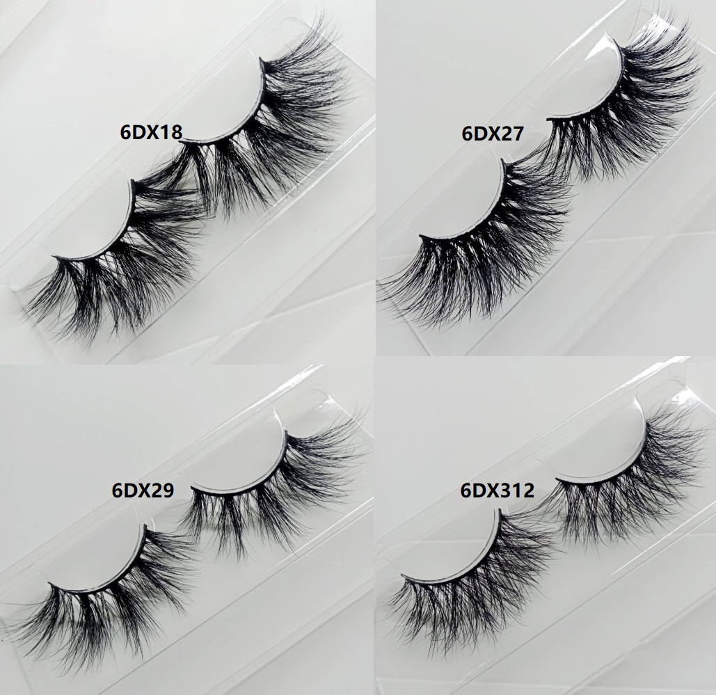 100% Cruelty free 3D real lashes 25mm mink eyelash with private label eyelash packaging box