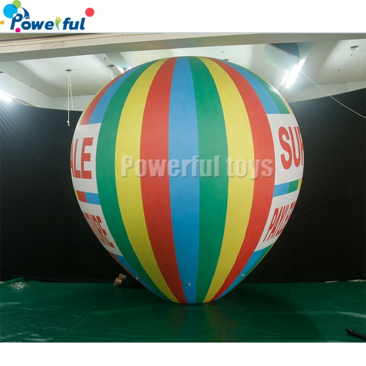 PVC advertising inflatable flying helium blimp/zeppelin/airship balloon