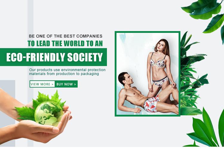 Custom printed organic cotton mens underwear boxers briefs trunks manufacturing