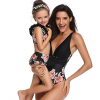 New Parent Child One Piece Swimsuit European American Mother And Daughter Swimwear Wholesale Traje De Bano Mujer Bathing Suit 20