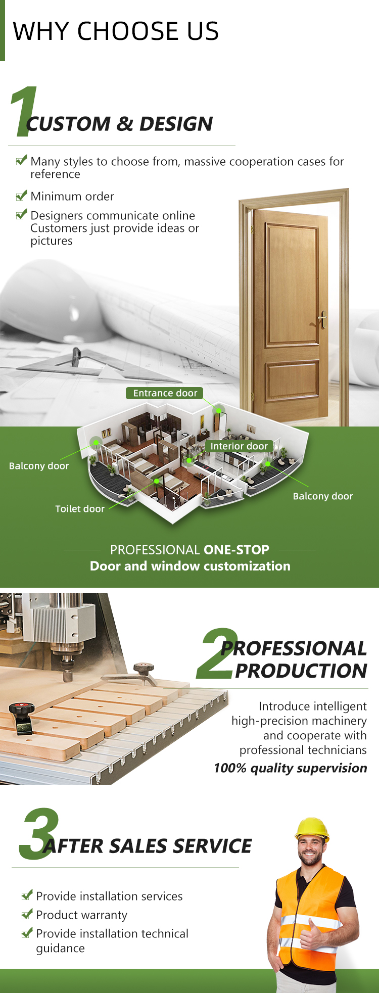 Wholesale Single Design composite door interior plywood pvc mdf Door For Hotel or Home
