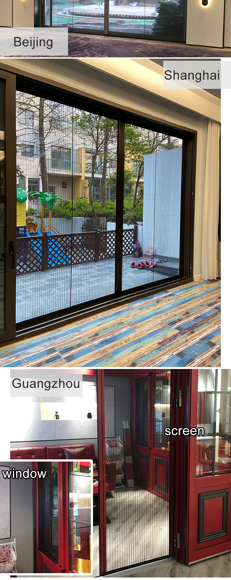 DIY fly aluminum screen Casement windows with Polyester Screen Mesh