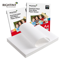 Anti scratch coating matte white self adhesive sticker photo paper for inkjet and laser printer