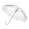 mini high quality cheap transparent umbrella clear white umbrella with logo customized print for adults and kids