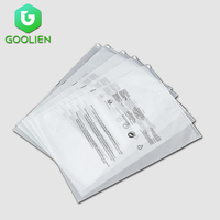 Customized clothing clear plastic resealable clothes packaging frosted packaging pouch ziplock bags custom