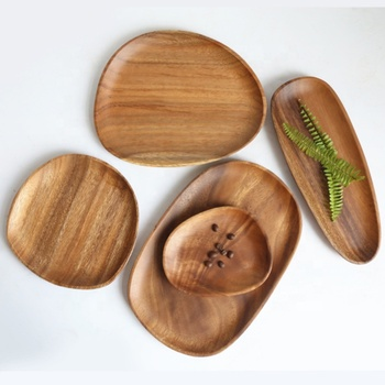 New Design Tableware Acacia Wholesale Wooden Plates