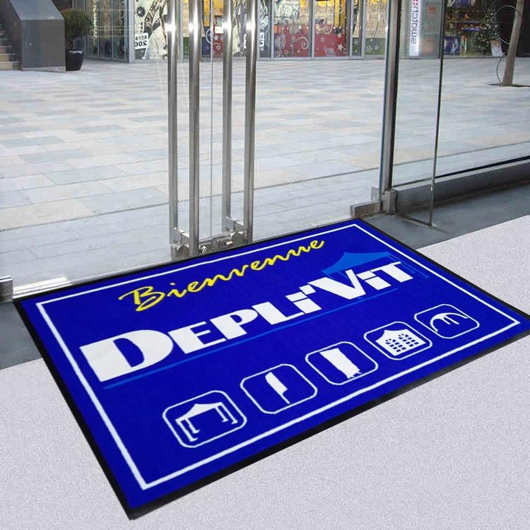 من المألوف مخصص طباعة شعار ممسحة للمدخل